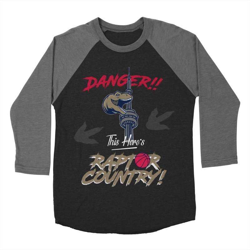 This Here's [Toronto] Raptor Country Men's Baseball Triblend Longsleeve T-Shirt by Silli Philli Produktionz