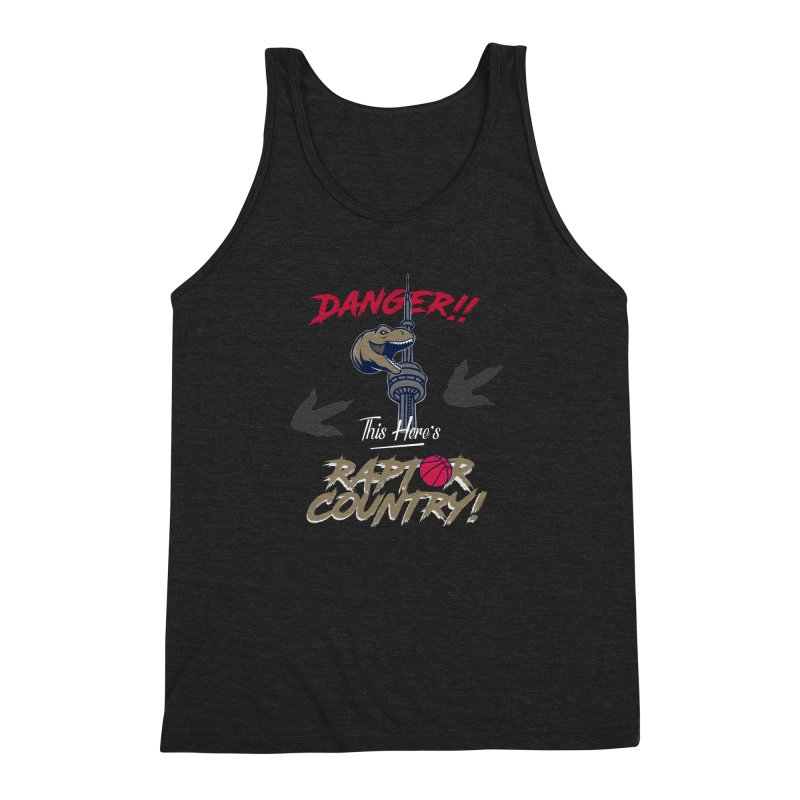 This Here's [Toronto] Raptor Country Men's Triblend Tank by Silli Philli Produktionz