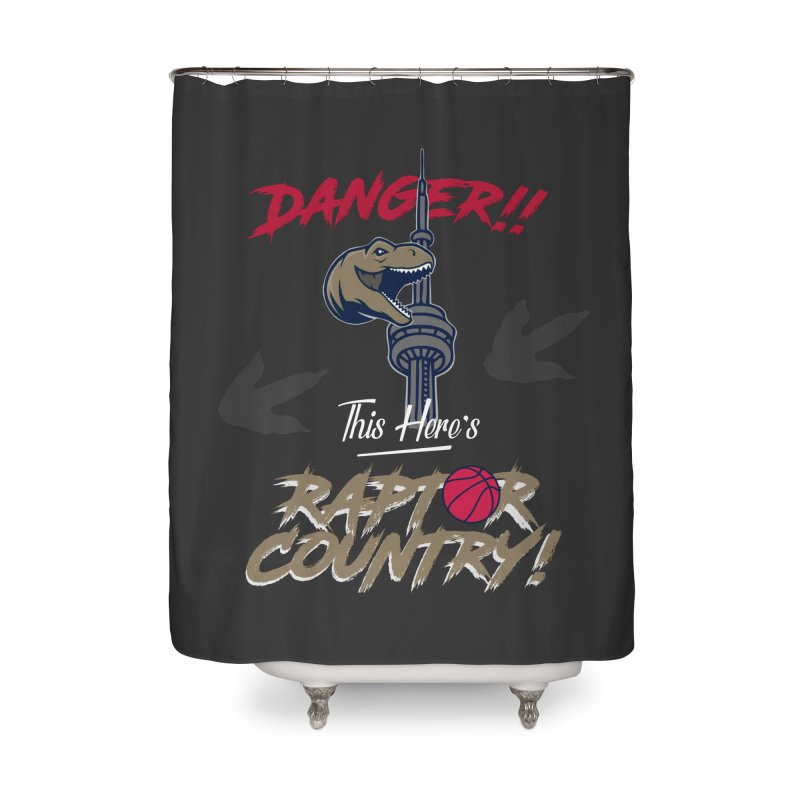 This Here's [Toronto] Raptor Country Home Shower Curtain by Silli Philli Produktionz