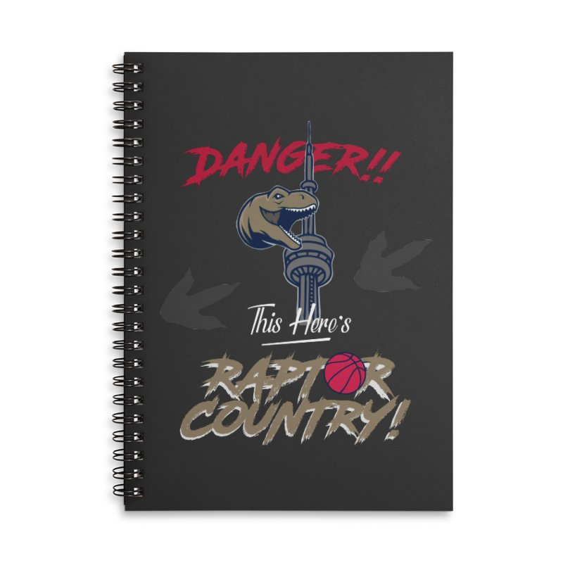 This Here's [Toronto] Raptor Country Accessories Lined Spiral Notebook by Silli Philli Produktionz | Custom Prints