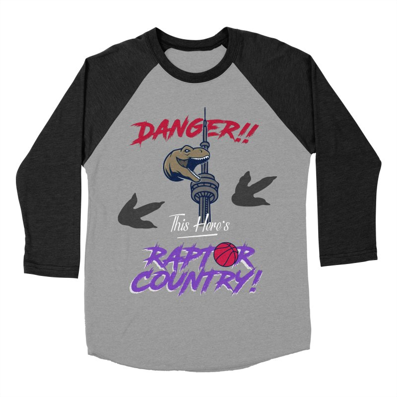 This Here's [Toronto] Raptor Country | Retro Women's Baseball Triblend Longsleeve T-Shirt by Silli Philli Produktionz