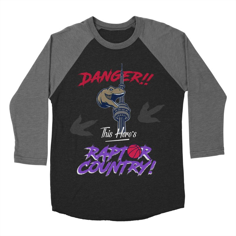 This Here's [Toronto] Raptor Country | Retro Men's Baseball Triblend Longsleeve T-Shirt by Silli Philli Produktionz
