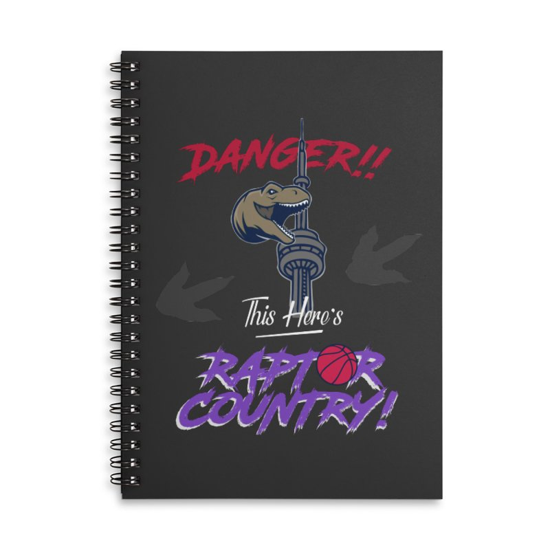 This Here's [Toronto] Raptor Country | Retro Accessories Lined Spiral Notebook by Silli Philli Produktionz | Custom Prints