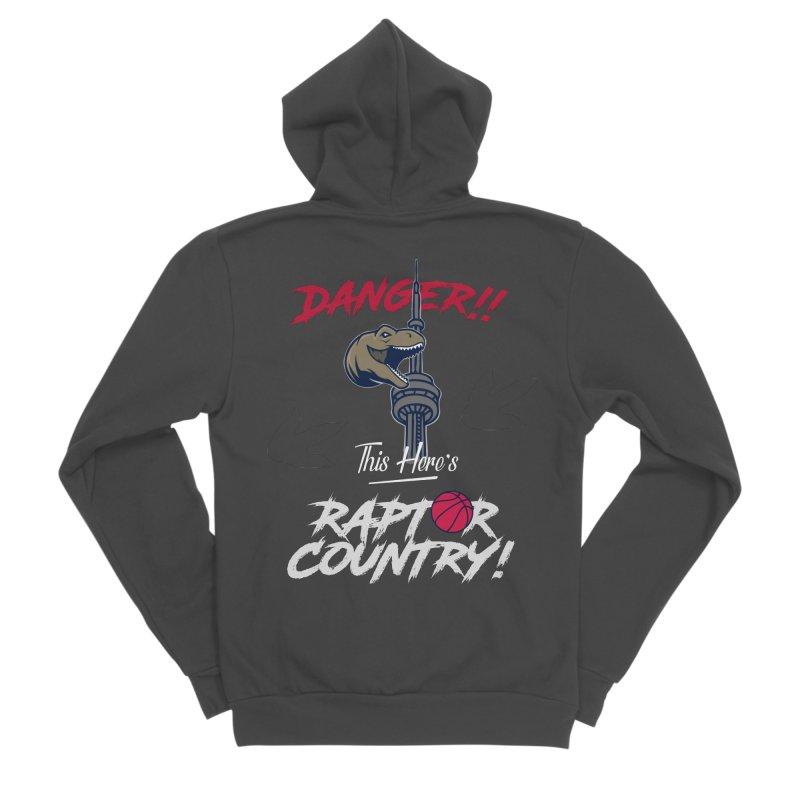 This Here's [Toronto] Raptor Country | Silver Men's Sponge Fleece Zip-Up Hoody by Silli Philli Produktionz