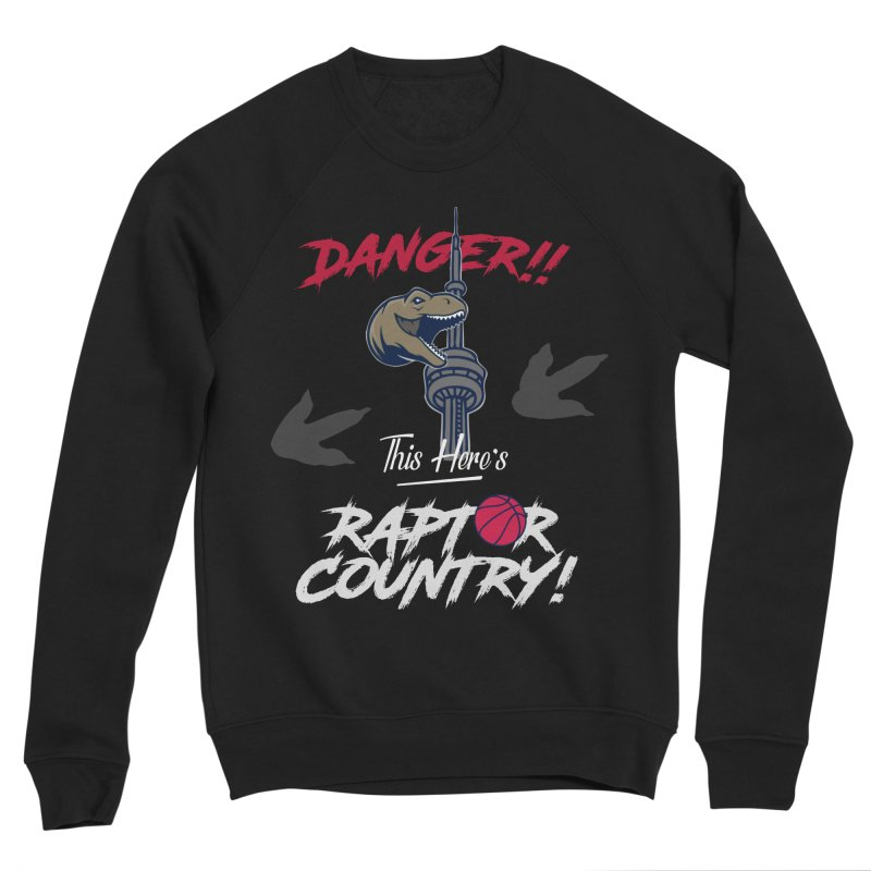 This Here's [Toronto] Raptor Country   Silver Men's Sponge Fleece Sweatshirt by Silli Philli Produktionz