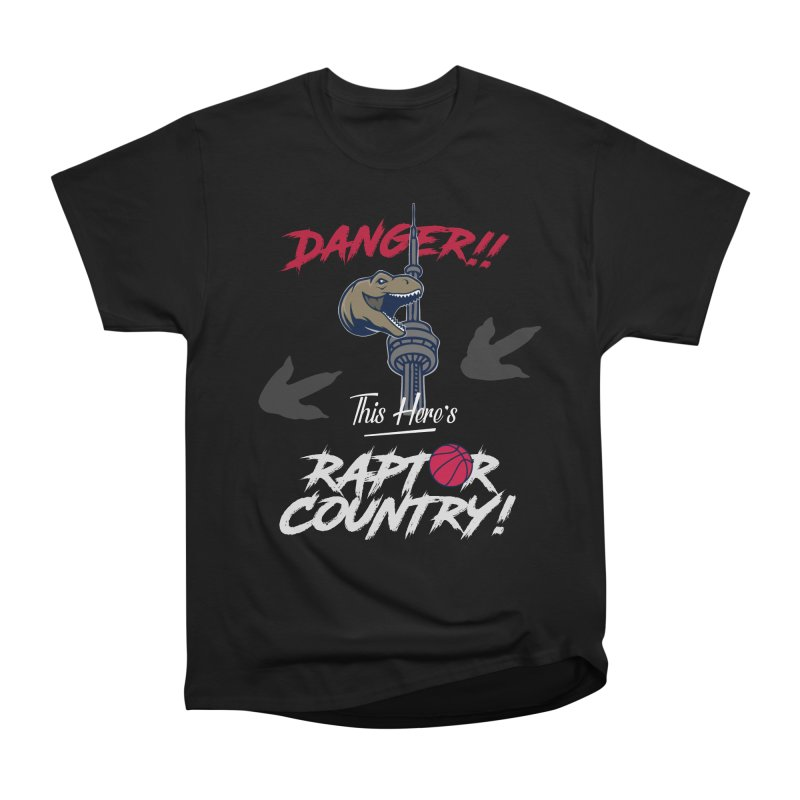 This Here's [Toronto] Raptor Country | Silver Women's Heavyweight Unisex T-Shirt by Silli Philli Produktionz