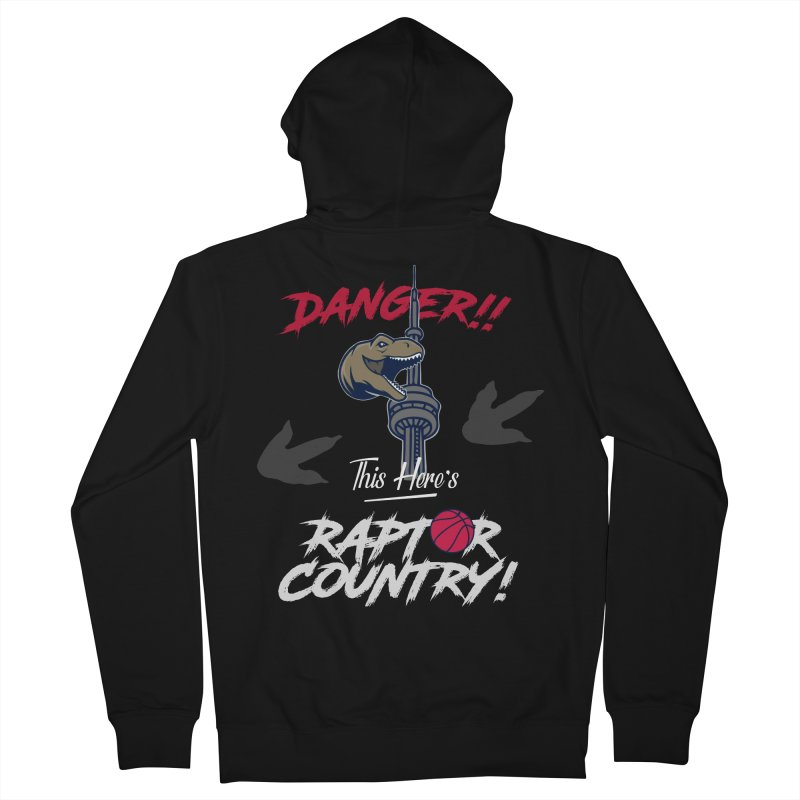 This Here's [Toronto] Raptor Country | Silver Men's French Terry Zip-Up Hoody by Silli Philli Produktionz