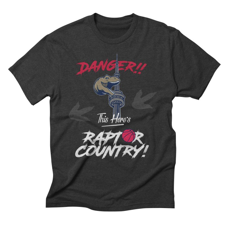This Here's [Toronto] Raptor Country | Silver Men's Triblend T-Shirt by Silli Philli Produktionz