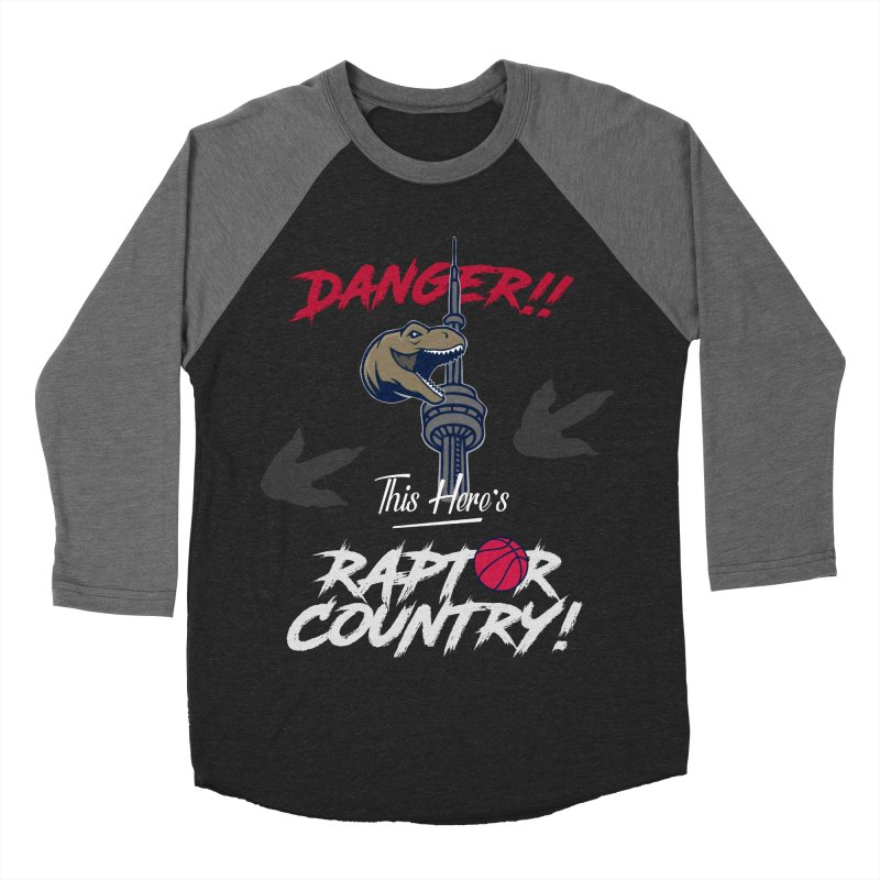 This Here's [Toronto] Raptor Country | Silver Women's Baseball Triblend Longsleeve T-Shirt by Silli Philli Produktionz