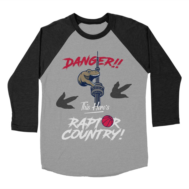 This Here's [Toronto] Raptor Country | Silver Men's Baseball Triblend Longsleeve T-Shirt by Silli Philli Produktionz