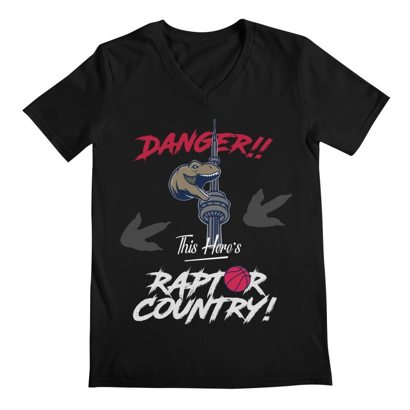 This Here's [Toronto] Raptor Country | Silver Men's Regular V-Neck by Silli Philli Produktionz