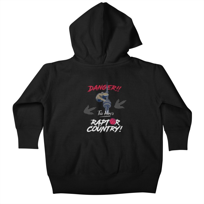 This Here's [Toronto] Raptor Country | Silver Kids Baby Zip-Up Hoody by Silli Philli Produktionz