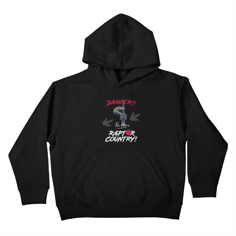 This Here's [Toronto] Raptor Country | Silver Kids Pullover Hoody by Silli Philli Produktionz