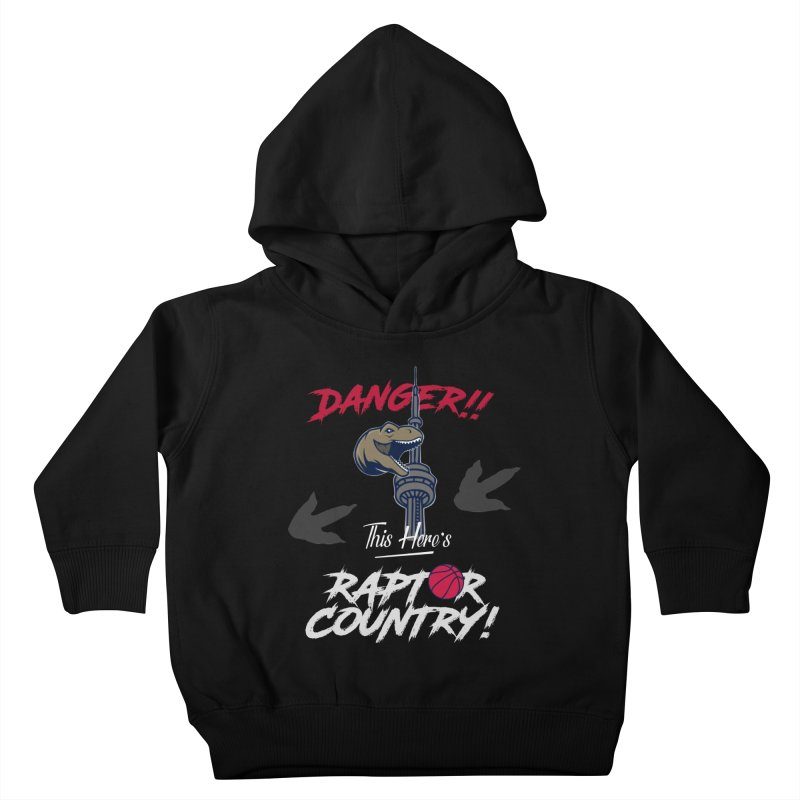This Here's [Toronto] Raptor Country | Silver Kids Toddler Pullover Hoody by Silli Philli Produktionz