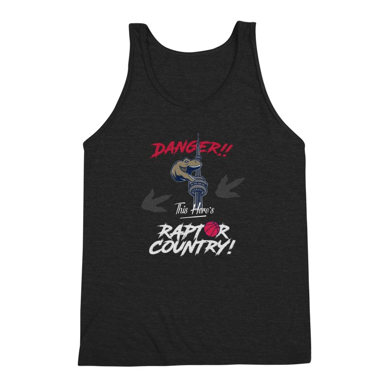This Here's [Toronto] Raptor Country | Silver Men's Triblend Tank by Silli Philli Produktionz