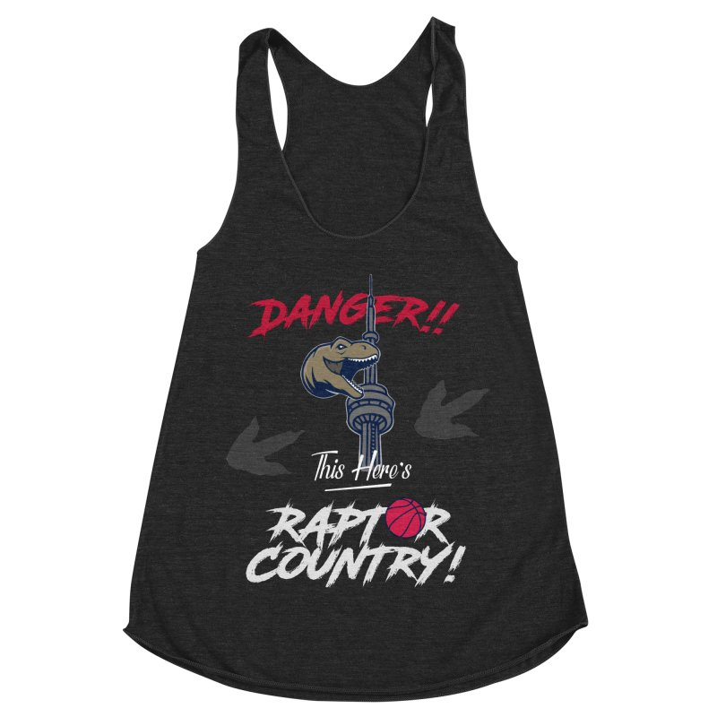 This Here's [Toronto] Raptor Country | Silver Women's Racerback Triblend Tank by Silli Philli Produktionz