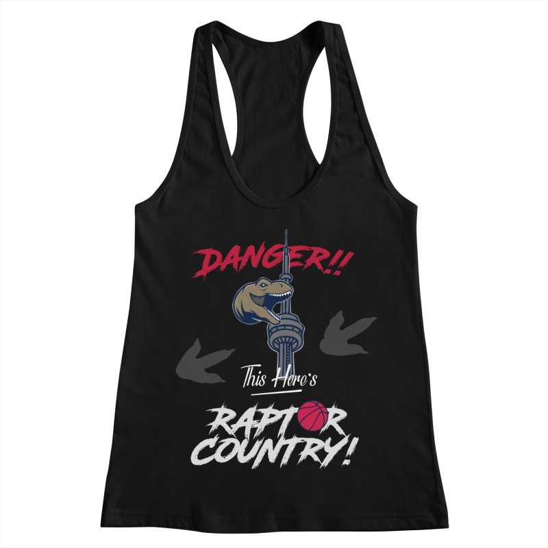 This Here's [Toronto] Raptor Country | Silver Women's Racerback Tank by Silli Philli Produktionz