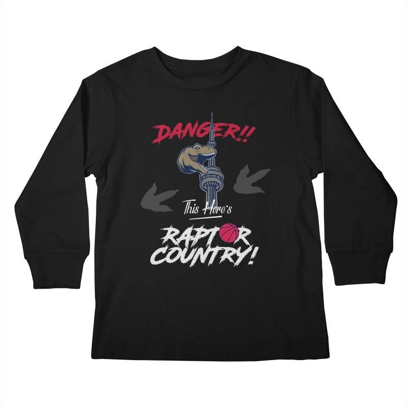 This Here's [Toronto] Raptor Country | Silver Kids Longsleeve T-Shirt by Silli Philli Produktionz | Custom Prints