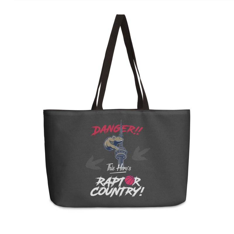 This Here's [Toronto] Raptor Country | Silver Accessories Weekender Bag Bag by Silli Philli Produktionz