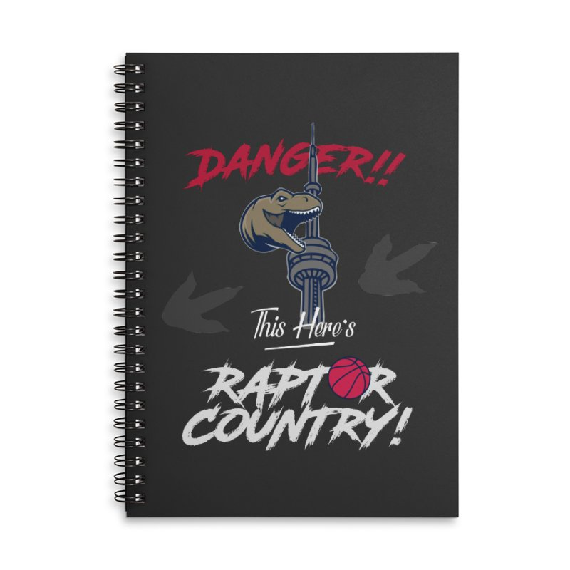 This Here's [Toronto] Raptor Country | Silver Accessories Lined Spiral Notebook by Silli Philli Produktionz | Custom Prints