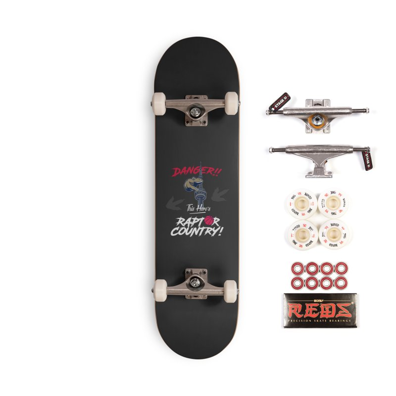 This Here's [Toronto] Raptor Country | Silver Accessories Complete - Pro Skateboard by Silli Philli Produktionz | Custom Prints