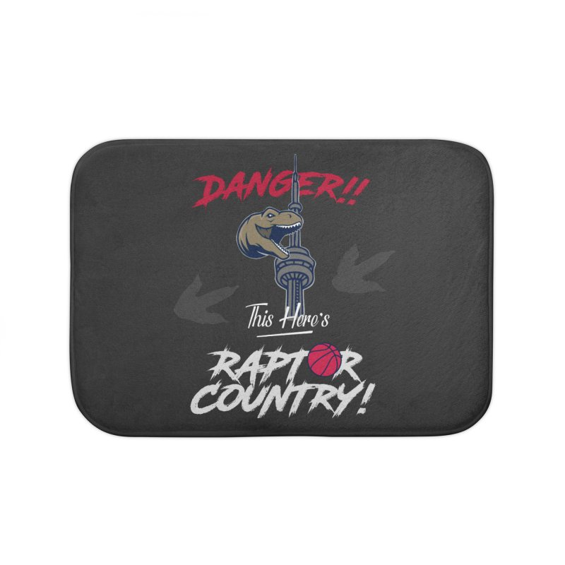 This Here's [Toronto] Raptor Country | Silver Home Bath Mat by Silli Philli Produktionz | Custom Prints