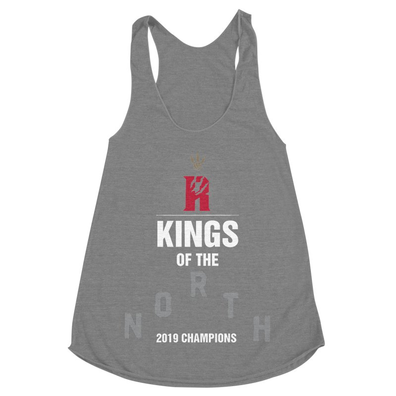 Kings of the NORTH | Champion Edition Women's Racerback Triblend Tank by Silli Philli Produktionz