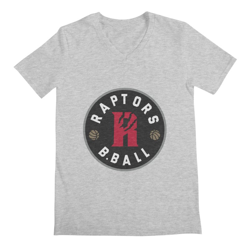 [Toronto] Raptors B.Ball - Grey Men's Regular V-Neck by Silli Philli Produktionz