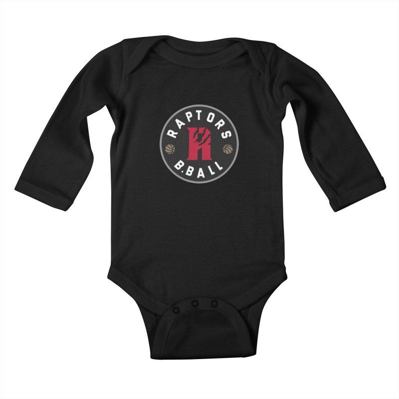 [Toronto] Raptors B.Ball - Grey Kids Baby Longsleeve Bodysuit by Silli Philli Produktionz