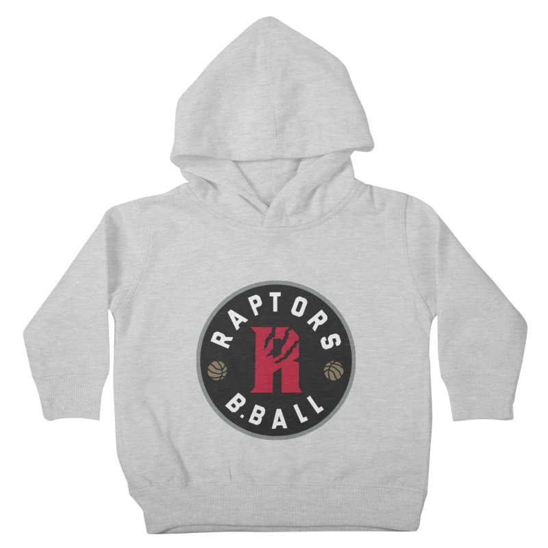 [Toronto] Raptors B.Ball - Grey Kids Toddler Pullover Hoody by Silli Philli Produktionz