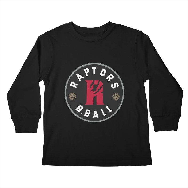 [Toronto] Raptors B.Ball - Grey Kids Longsleeve T-Shirt by Silli Philli Produktionz | Custom Prints