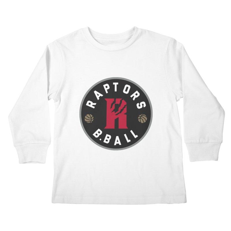 [Toronto] Raptors B.Ball - Grey Kids Longsleeve T-Shirt by Silli Philli Produktionz