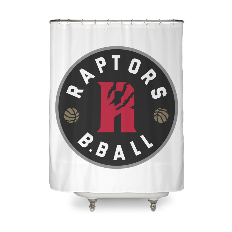 [Toronto] Raptors B.Ball - Grey Home Shower Curtain by Silli Philli Produktionz