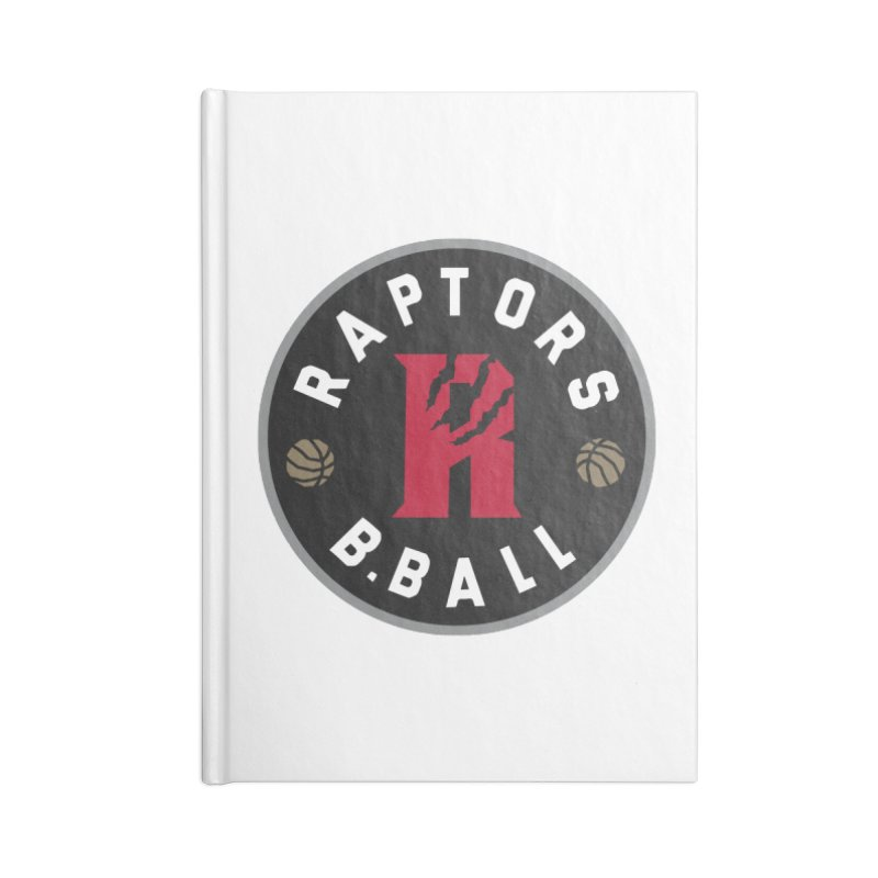 [Toronto] Raptors B.Ball - Grey Accessories Blank Journal Notebook by Silli Philli Produktionz