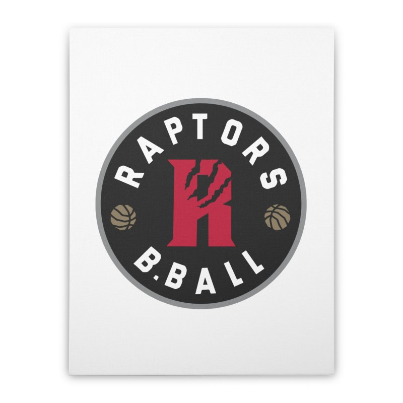 [Toronto] Raptors B.Ball - Grey Home Stretched Canvas by Silli Philli Produktionz | Custom Prints