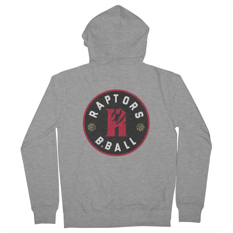 [Toronto] Raptors B.Ball - Red Women's French Terry Zip-Up Hoody by Silli Philli Produktionz