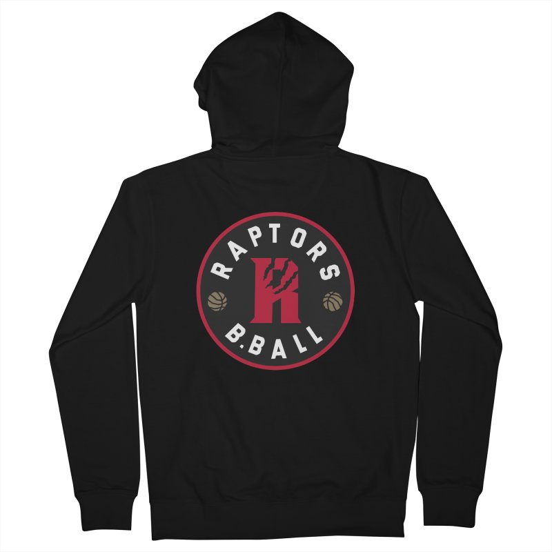 [Toronto] Raptors B.Ball - Red Men's French Terry Zip-Up Hoody by Silli Philli Produktionz