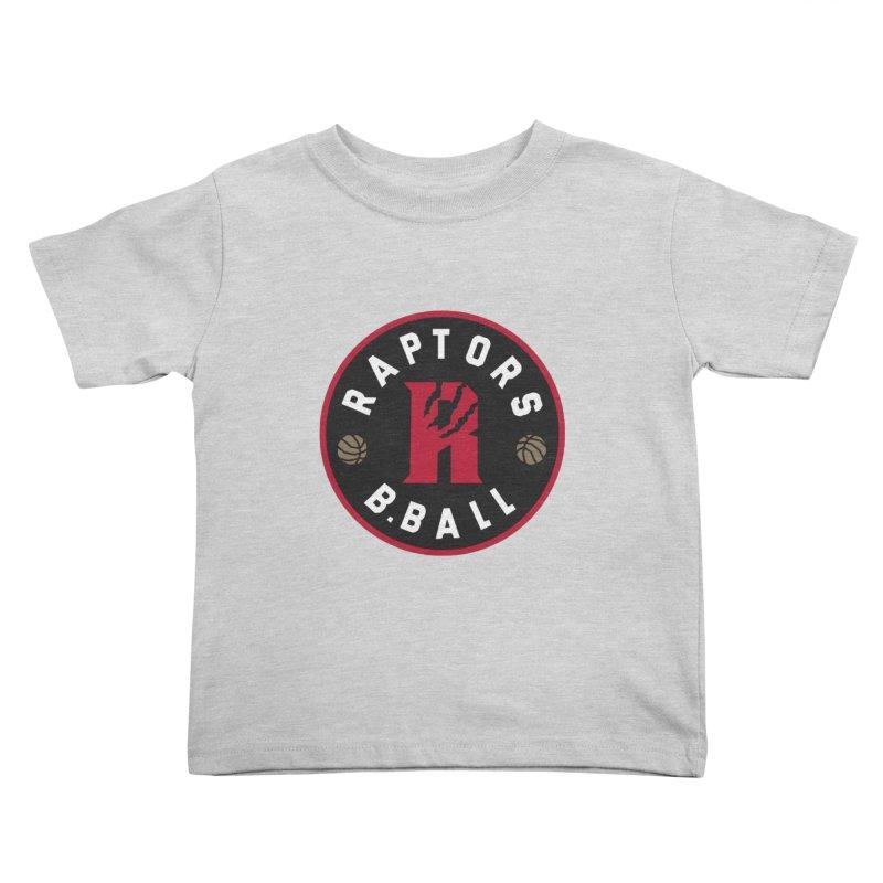 [Toronto] Raptors B.Ball - Red Kids Toddler T-Shirt by Silli Philli Produktionz | Custom Prints