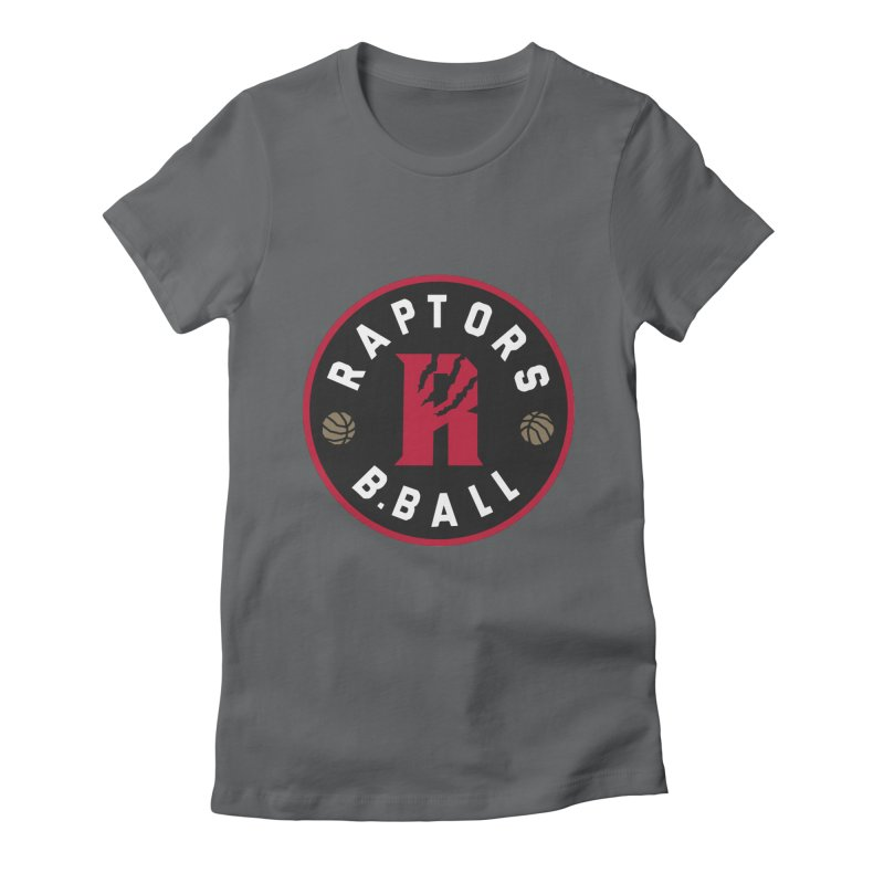 [Toronto] Raptors B.Ball - Red Women's Fitted T-Shirt by Silli Philli Produktionz