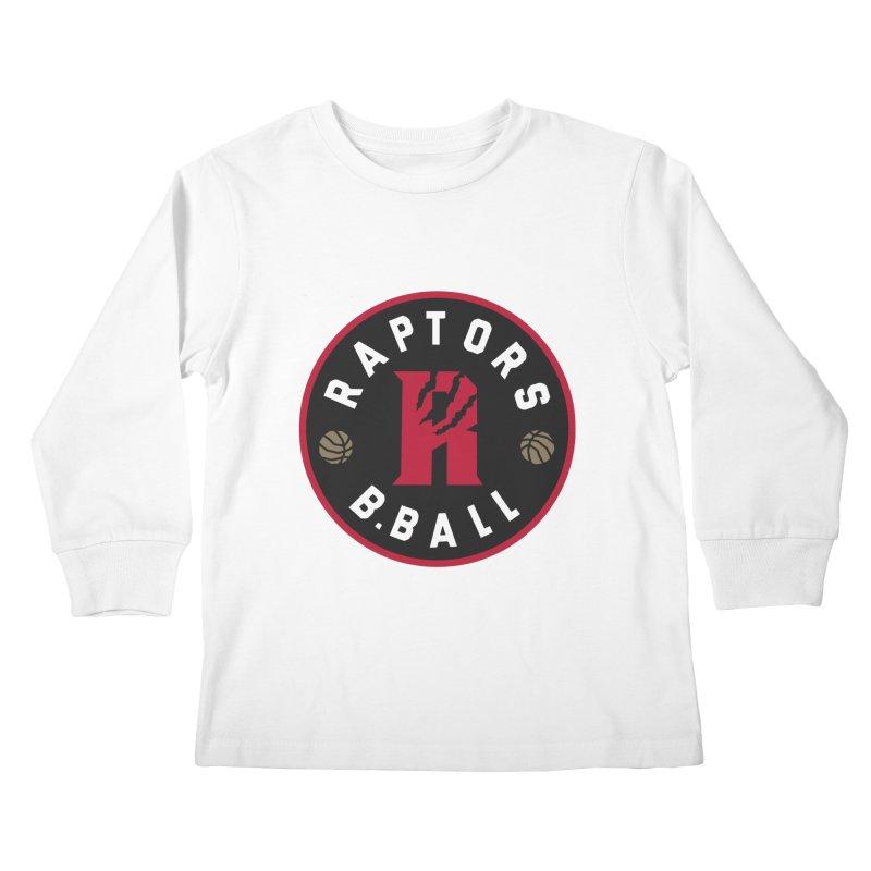 [Toronto] Raptors B.Ball - Red Kids Longsleeve T-Shirt by Silli Philli Produktionz