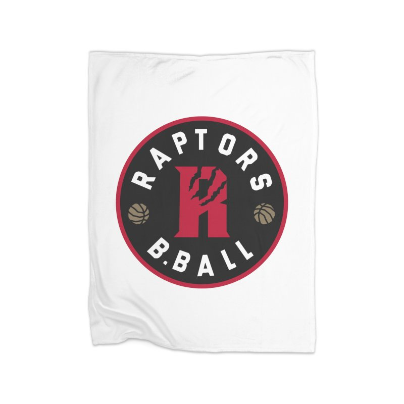 [Toronto] Raptors B.Ball - Red Home Fleece Blanket Blanket by Silli Philli Produktionz