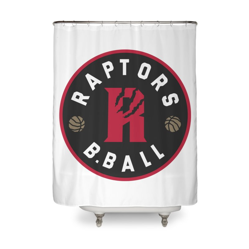 [Toronto] Raptors B.Ball - Red Home Shower Curtain by Silli Philli Produktionz