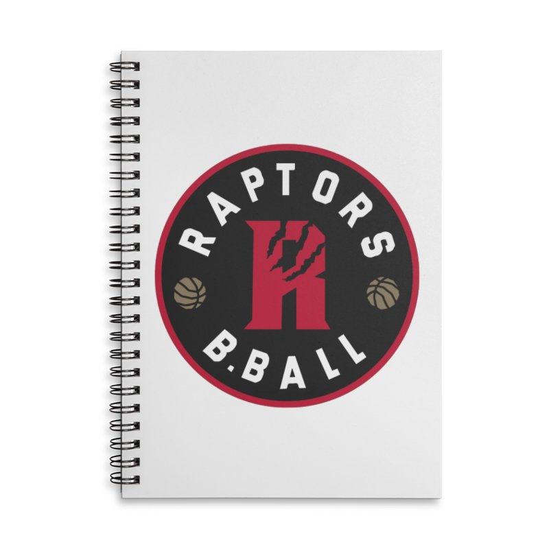 [Toronto] Raptors B.Ball - Red Accessories Lined Spiral Notebook by Silli Philli Produktionz | Custom Prints