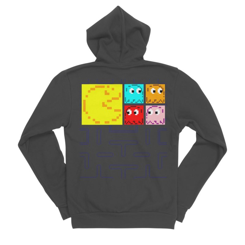 Pac-Maan & The Ghostly Gang Women's Sponge Fleece Zip-Up Hoody by Silli Philli Produktionz