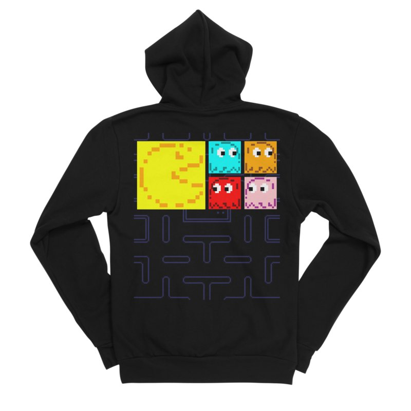 Pac-Maan & The Ghostly Gang Men's Sponge Fleece Zip-Up Hoody by Silli Philli Produktionz