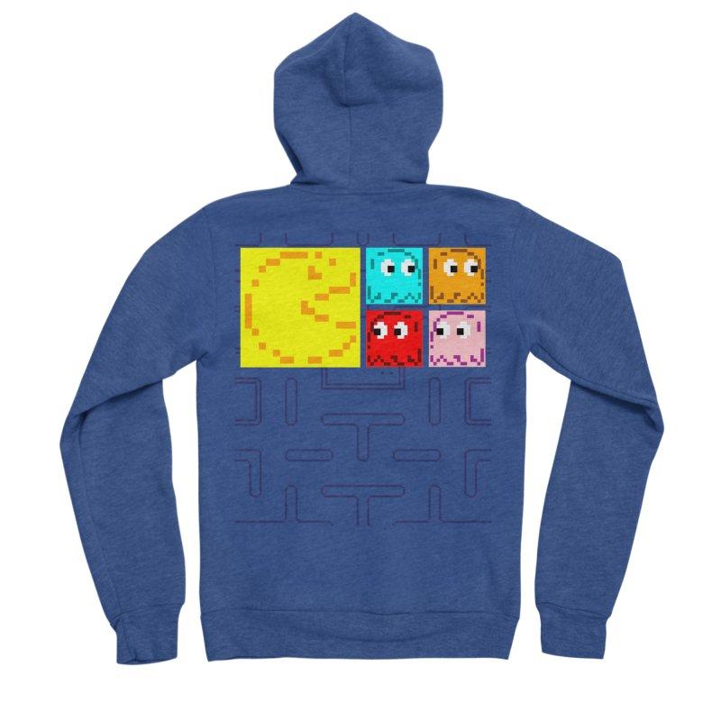 Pac-Maan & The Ghostly Gang Men's Sponge Fleece Zip-Up Hoody by Silli Philli Produktionz   Custom Prints