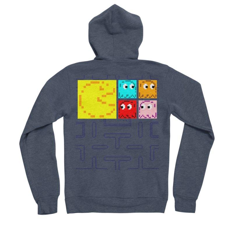Pac-Maan & The Ghostly Gang Women's Sponge Fleece Zip-Up Hoody by Silli Philli Produktionz | Custom Prints