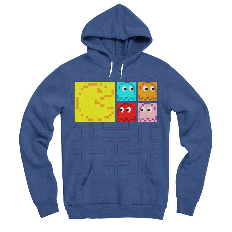 Pac-Maan & The Ghostly Gang Men's Sponge Fleece Pullover Hoody by Silli Philli Produktionz