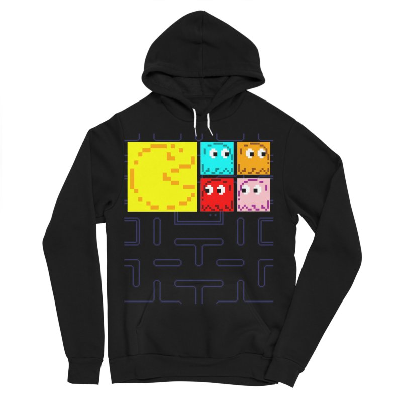 Pac-Maan & The Ghostly Gang Women's Sponge Fleece Pullover Hoody by Silli Philli Produktionz