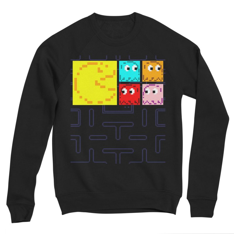 Pac-Maan & The Ghostly Gang Women's Sponge Fleece Sweatshirt by Silli Philli Produktionz | Custom Prints